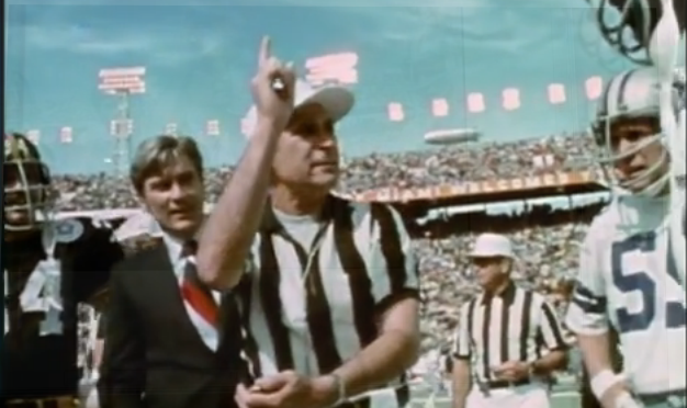 Why did future Virginia senator John Warner toss the coin at Super Bowl X?