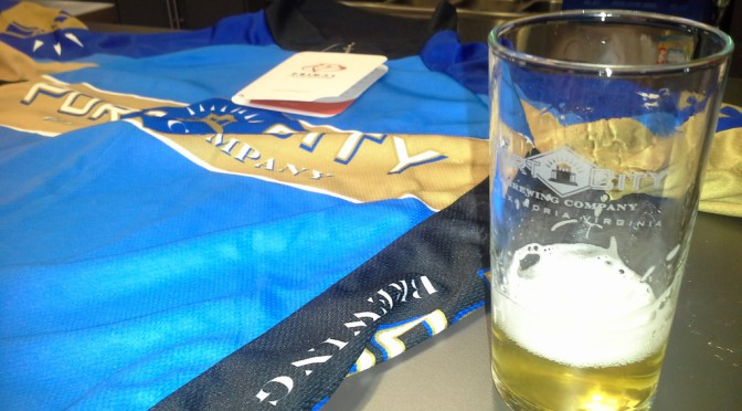 Port City Brewing Co. cycling jersey and Derecho Common