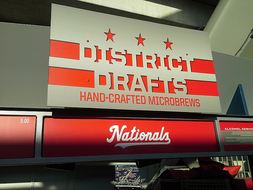 District Drafts - Local beers at Nationals Park, Washington, D.C.