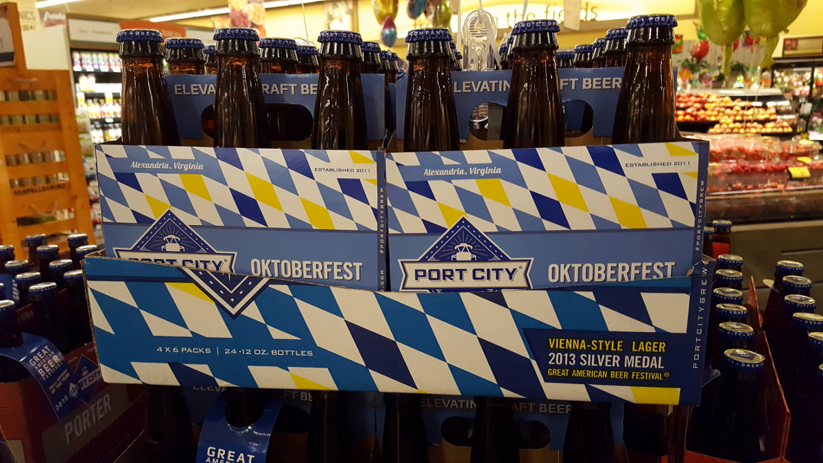 """Port City Oktoberfest display at supermarket"""