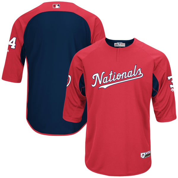 2017 Washington Nationals batting jersey, Bryce Harper model
