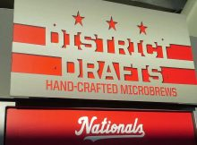 District Drafts beer sign at Nationals Park