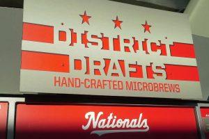 District Drafts beer sign at Nationals Park