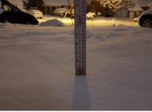 8.25 inches of snow were measured in Alexandria, Va. at 9:30 p.m. on January 19, 2019