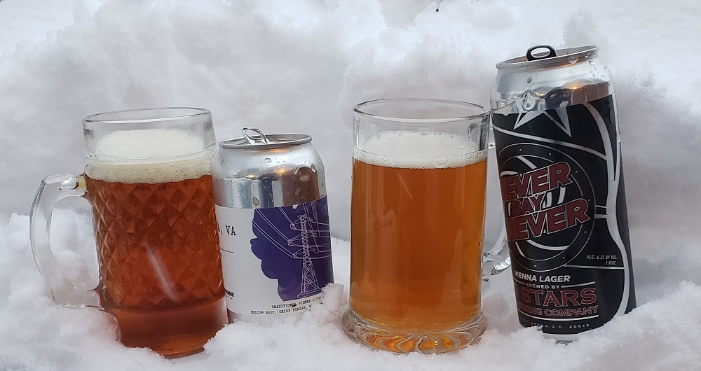 Vienna Lagers by Caboose Brewing and 3 Stars Brewing