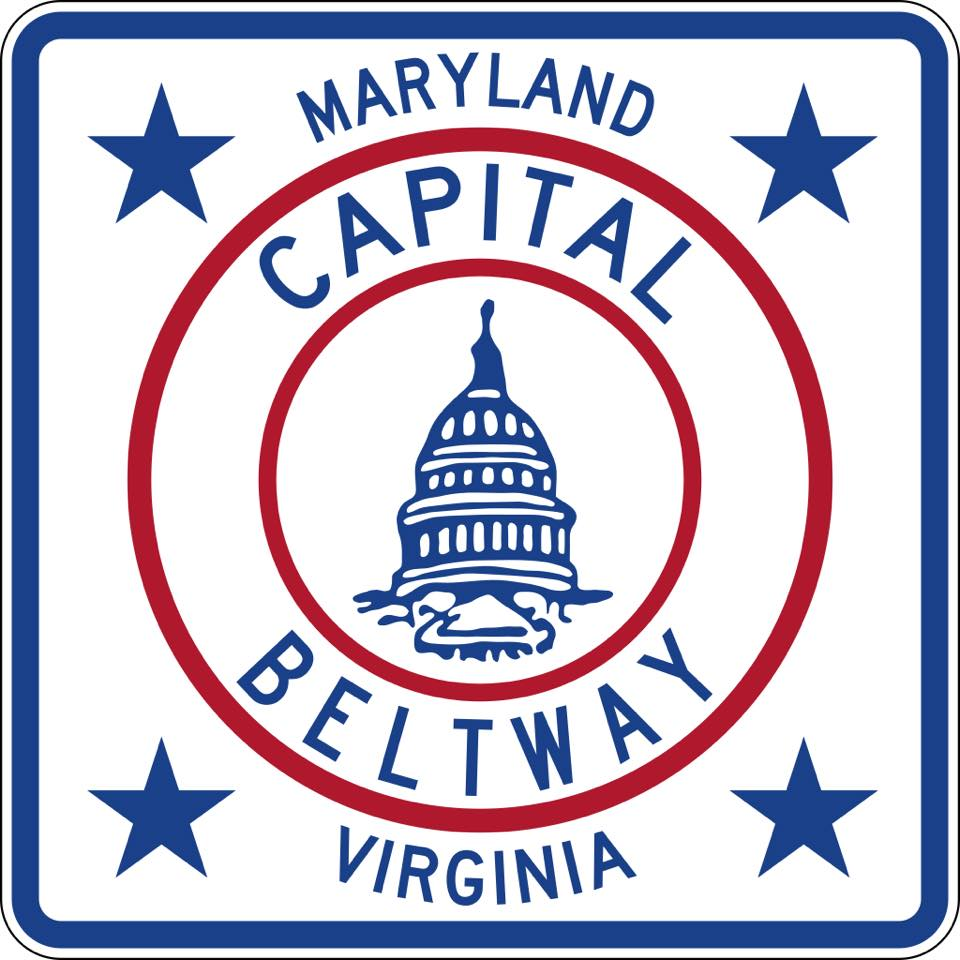 Capital Beltway marker sign