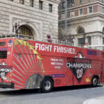 Washington Nationals World Series champion bus in Phiadelphia, November 2019. Photo courtesy of Dan McQuade