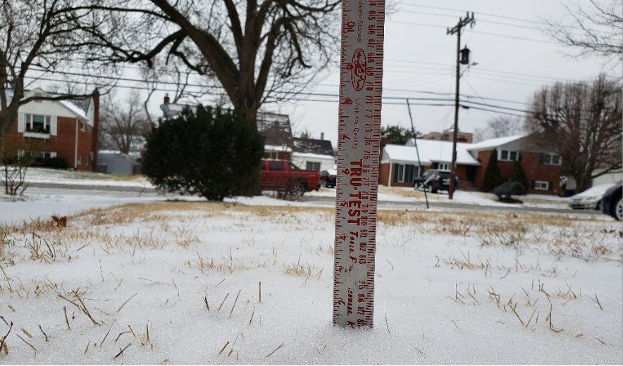 February 18, 2021 Snow fall total for Alexandria, Va.