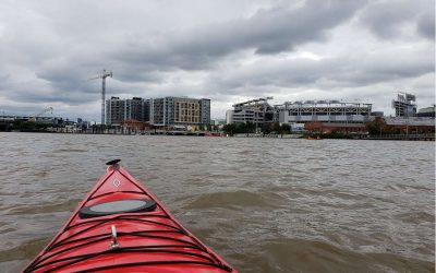 Kayaking on the Anacosita River near the Ballpark Boathouse, Washington, D.C.